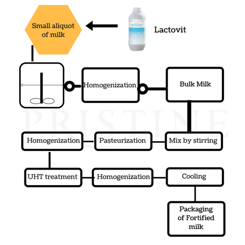 Liquid Milk Fortification Process
